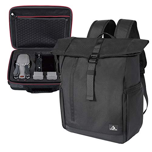 Smatree Backpack with Hard Carrying Case Compatible for Mavic 2 Pro/Zoom Drone with Smart Controller & 13.3-16inch Laptop,2-in-1 Bags (Drone and Accessories are NOT Included)