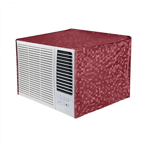 Kuber Industries 3D Design PVC Window AC Cover for 2 Ton Capacity - Maroon (CTKTC01716)