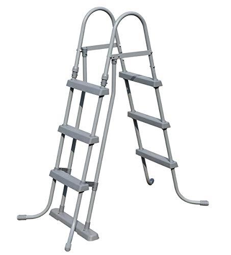 Bestway Pool-Leiter 3 Stufen Sicherheitsleiter Abnehmbar für Pool bis107cm Ultra-Frame Quick-Up Poolzubehoer Trittstufen