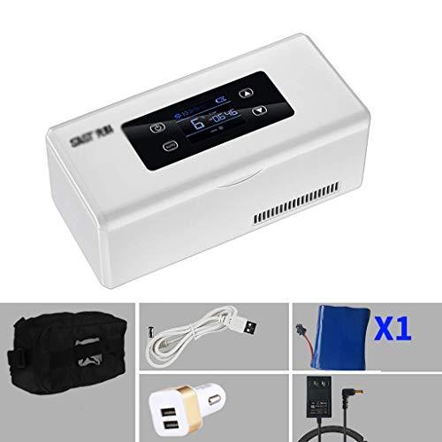 LQUIDE Congélateurs Portables incubateur médical réfrigérateur Domestique 2-8 degrés d'insuline Froide fraîche Petite boîte Portable avec Batterie (Couleur: B)