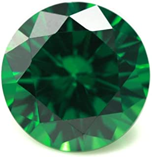 Alone Moon Loose Emerald Synthetic Gemstones Round Diamond Cut Perfect Replacement for Jewelry Making (9mm, 30pcs)