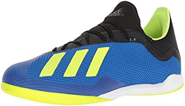 adidas Men's X Tango 18.3 Indoor Soccer Shoe, Football Blue/Solar Yellow/Black, 13 M US