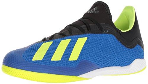 adidas Men's X Tango 18.3 Indoor Soccer Shoe, Football Blue/Solar Yellow/Black, 11.5 M US