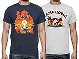 The Fan Tee Pack 2 Camisetas Talla L de Hombre Dragon Ball Goku Vegeta Bolas de Dragon Super Saiyan 051