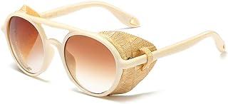 نظارات شمسية دائرية كلاسيكية كلاسيكية كلاسيكية بنمط ستيم بانك من سايد شيلد