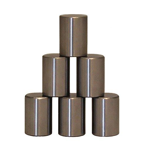6 x Zylinderrollen aus Metall für Kugelfang und Scheibenkasten