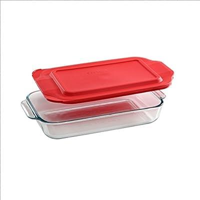 Pyrex Basics Quart Glass Oblong Baking Dish