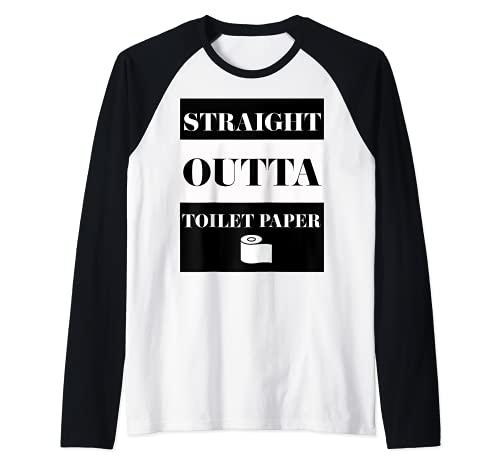 Straight Outta Toilet Paper Coronavirus Raglan Baseball Tee