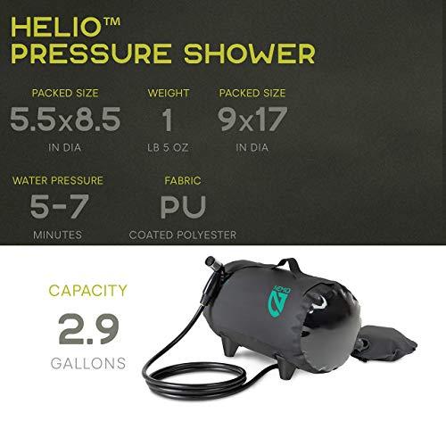 Nemo Helio Pressure Shower (Dark Verglas)