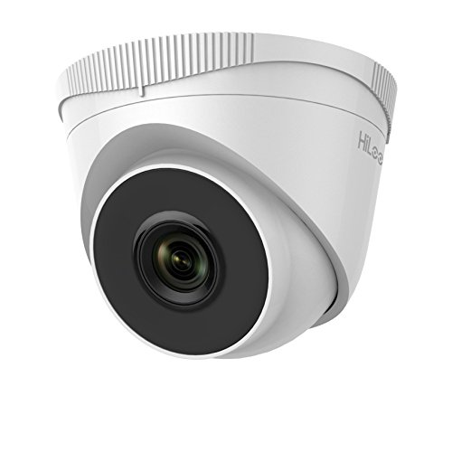 HiLook By Hikvision IPC-T240H 2.8mm Lens 4MP IP PoE Turret Netwerk Camera Met 30m Nachtzicht - Wit