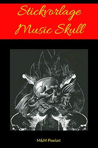 Vorlagen fürs Sticken: Music Skull