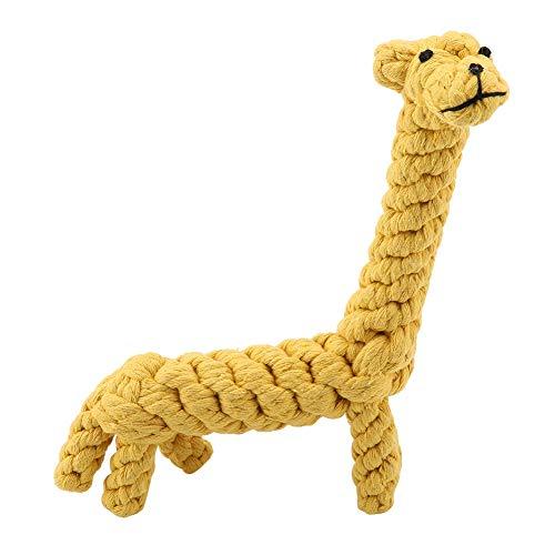 FTVOGUE Hundespielzeug, niedliches Hundespielzeug aus Baumwolle, Bissfest, Giraffen-Design, für Zähnereinigung