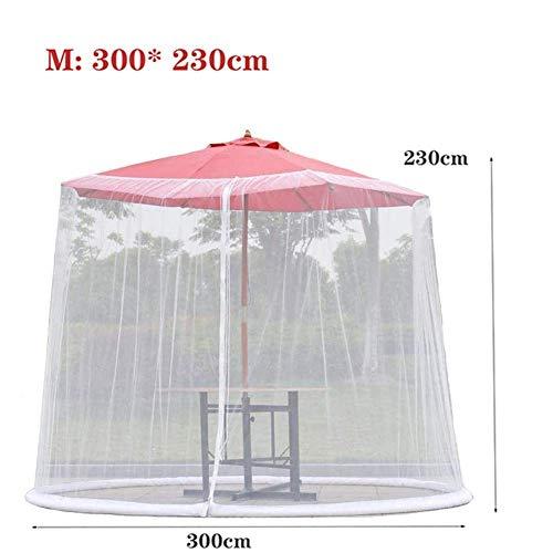 Nfudishpu Umbrella Mosquito Patio-Patio Umbrella Bug Screen w/Zipper Door, Polyester Mesh Screen, Outdoor Garden Pavilion Tent, Helps Protect from Mosquitoes, M
