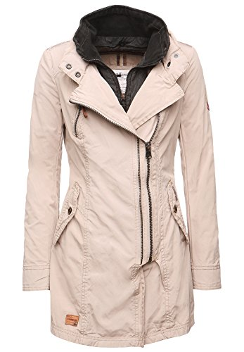 khujo Damen Jacke Flue with Inner Jacket 1018JK161J_126 126 Pebble, S