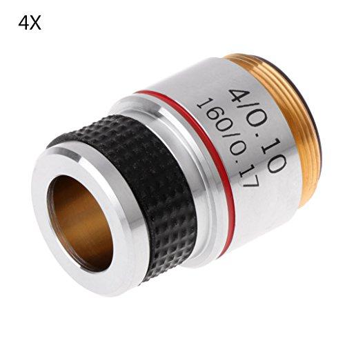 Jenor 4X 10X 40X 100X Lente acromática para microscopio biológico 185