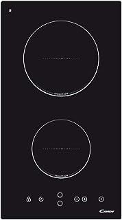 Candy CDI30 Placa inducción 2 fuegos, 30cm ancho, 3500W, Táctil, Eléctrica, Temporizador, Negra