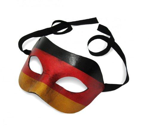 Unbespielt Original Venezianische Maske Colombina Deutschland Flagge Fahne Vintage Erscheinungsbild