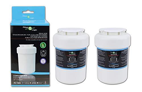 FilterLogic FFL-140G Filtro de agua para frigorífico compatible con General Electric GE MWF, GE SmartWater, GWF, GWF01, GWF06, WR02X11020, FL-310 ¦ Hotpoint HWF ¦ Seninel WSG-1 ¦ Zuma OPFG-RF300 (2)