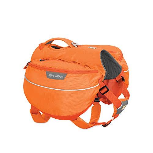 Ruffwear Wander-Rucksack für Hunde, Mittelgroße Hunderassen, Größenverstellbar, Größe: M, Orange (Orange Poppy), Approach Pack