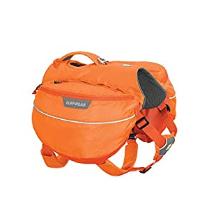 RUFFWEAR, Approach Dog Pack, Backpack for Hiking and Camping, Orange Poppy, Large/X-Large