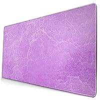 マウスパッド 大型 ゲーミング デスクマット 割れ目 大理石風 紫 背景 葉書 かわいい 防水性 耐久性 滑り止め 多機能 超大判 40cm×75cm
