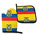 N\A Manoplas para Horno con Bandera ecuatoriana, Porta ollas