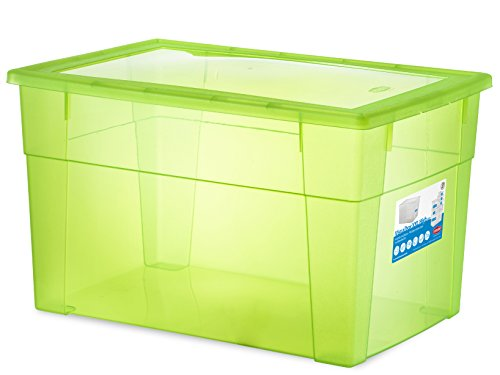 Stefanplast Visualbox Contenitore Multiuso XXL High, Verde, 60x40x35 cm