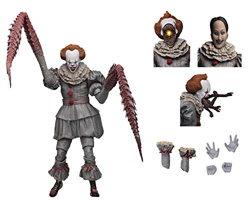 NECA - Figurine It Movie 2017 - Ultimate Pennywise Dancing Clown 18cm - 0634482454701, B07M6RMSRX, Mehrfarbig