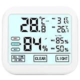 Termómetro Higrómetro, VOLUEX Termómetro Digital de Escritorio con LCD Monitor de Temperatura y Humedad, Termómetro de Habitación de Calibre Humedad Preciso con Registro Máximo y Mínimo para Interior