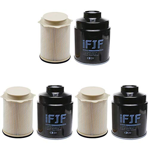 iFJF Fuel Filter/Water Separator Replacement for Dodge Ram 2500 3500 4500 5500 6.7L Turbo Diesel Engines 68197867AA 68157291AA(Set of 3)