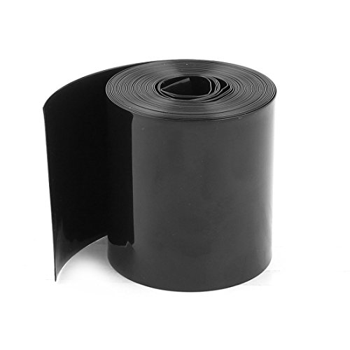 Sourcingmap® 70mm/44mm PVC Schrumpfschlauch Umwickeln 5m 5m für 18650 Akku-Pack de