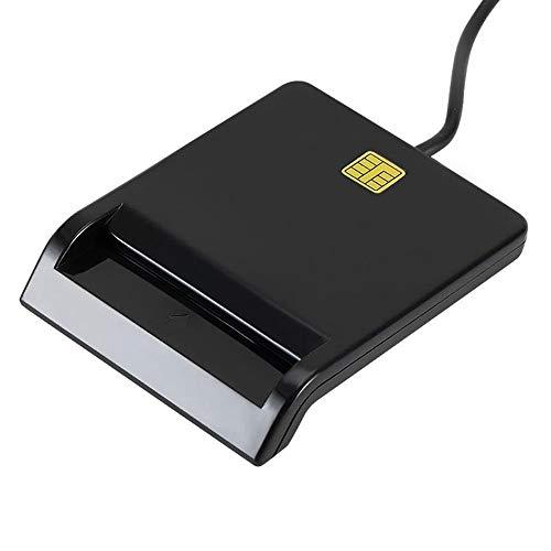 YUHUANG Lettore di Smart Card USB, Funzionamento Finestra connettore della Scheda Clone DNIE Bancomat CAC IC ID SIM è Stabile e affidabile-Nero