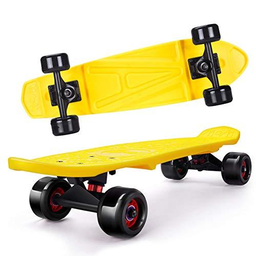 Yizhi Kids Plastic Skateboard, 24 Zoll Double Kick Skateboard Für Anfänger