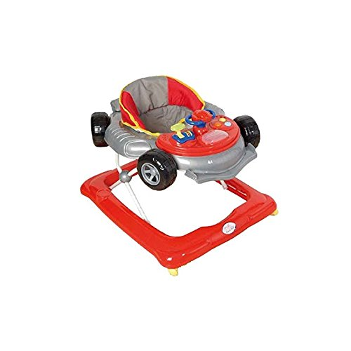 Andador para bebé, diseño fórmula 1 gris. Andador de actividades o...