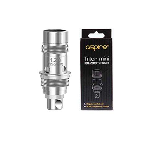 Aspire Triton Mini用コイル 5個セット Nautilus/Nautilus mini 電子タバコ VAPE MOD (1.8ΩClapton coil)