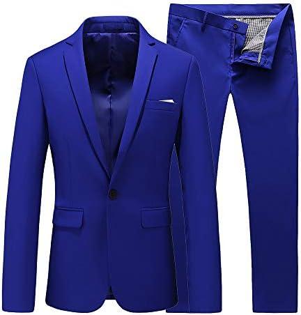 Royal blue mens suit _image4