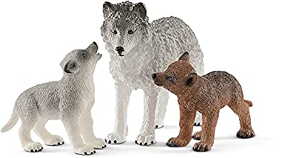 SCHLEICH Mother Wolf with pups