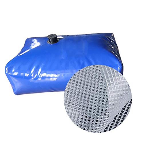 Water Carrier Container, Foldable Anti-drop and Wear-resistant Flame Retardant Heat Insulation Car Water Bag for Travel, Vacation YJFENG (Color : Blue, Size : 1080L/1.8x1.2x0.5M)