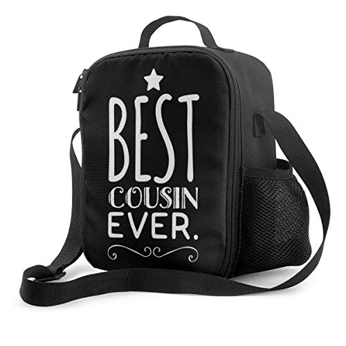 Reusable Lunch Bag,Best Cousin Ever Funny Cousin Gift Thermal Insulated Lunch Tote Cooler Box for Woman Man Outdoor Activities,School,Work,Picnic