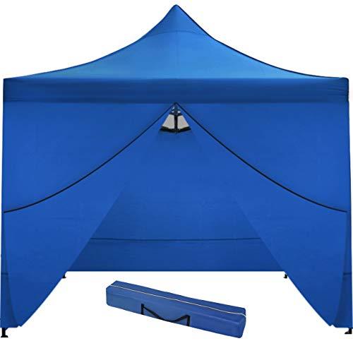 MT MALATEC Faltpavillon Faltzelt 3x3m Partyzelt Gartenpavillon UV 30 WASSERDICHT 9920, Farbe:Blau
