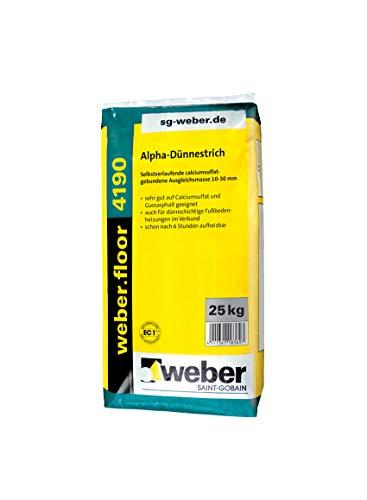 weber.floor 4190 Alpah-Dünnestrich Ausgleichmasse Estrich Dünnestrich 25 kg