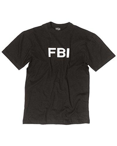 Miltec T- Shirt FBI Taille M Adulte Unisexe, Noir, M
