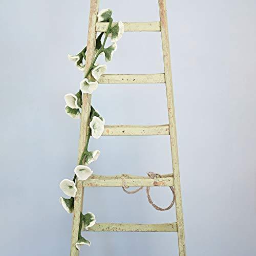 Girlande aus Filzblumen, ca. 160cm lang