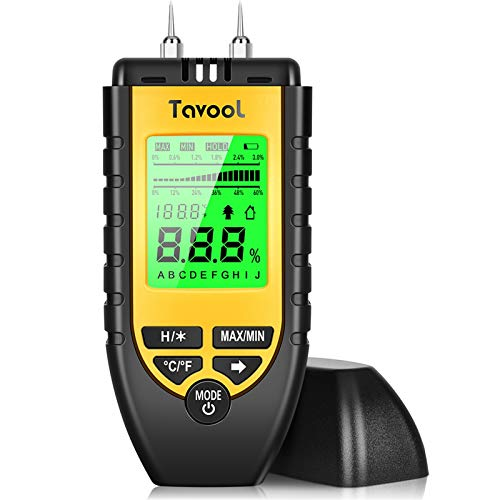 Tavool Digital Pin Type Moisture Meter with Backlit LED Screen