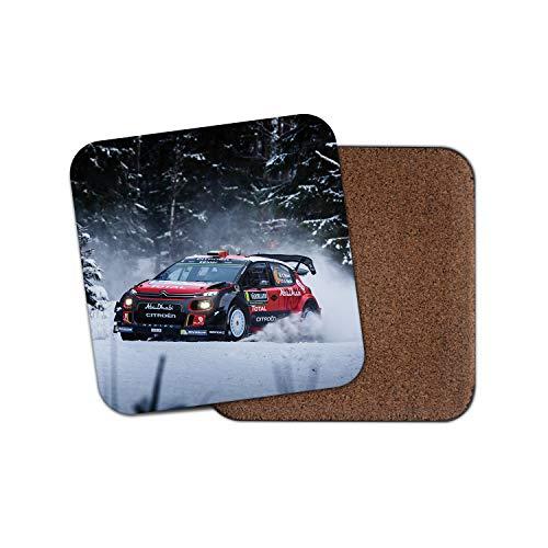 Posavasos de rally de invierno - Coche de carreras Drift Snow ...
