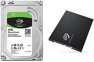 Seagate 内蔵ハードディスク 3.5インチ 4TB  BarraCuda  ST4000DM004 + Seagate SSD 内蔵2.5インチ 500GB STGS500401