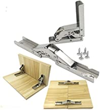 Size : 2PCS Hinges 2PCS Hardware 90 Degree Furniture Adjustable Concealed Flap Hinge Self Supporting Special Table Hinge Pack of with Screw Door Hinges