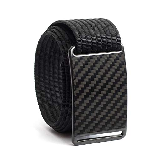 42 Inch Dark Matter Carbon Fiber Belt Buckle w/Black Strap