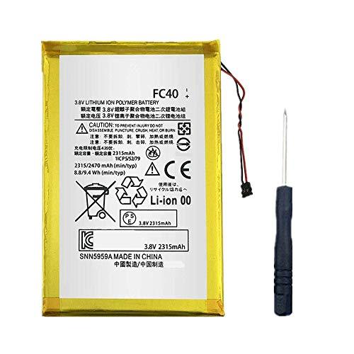 Bestome Batería de repuesto compatible con Motorola Moto G 3rd Gen G3 2015 XT1540 XT1541 XT1543 XT1544 XT1548 FC40 SNN5965A Mobile Phone 3,8 V, 2470 mAh
