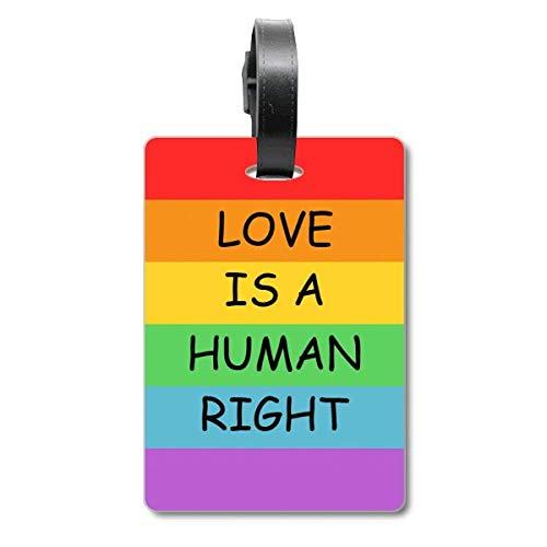 Homo lesbische regenboog vlag LGBT Cruise koffer tas Tag Tourister identificatie label